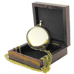 Compass with necklace in box