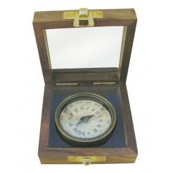 Sonnenuhr Kompass Messing in Box antik-look