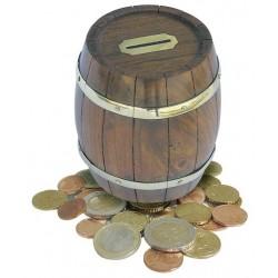Money box wine barrel