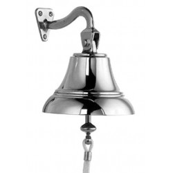 Ships bell complete chrome - 100 mm