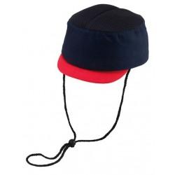 Cap veiligheid kort model blauw/rood