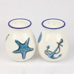 Poivre et sel ensemble motifs nautiques