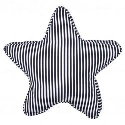 Kissen Stern Streifen blau/weiß