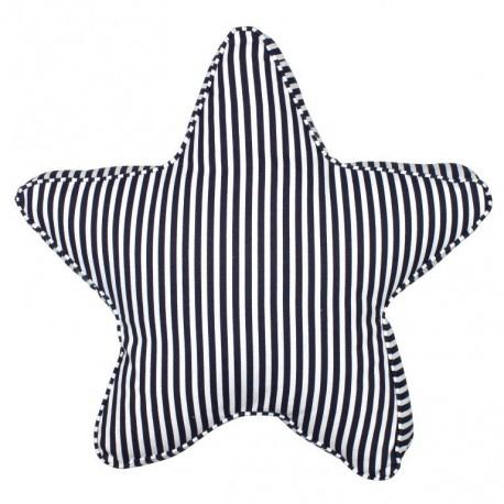 kissen stern streifen blau wei nautic gifts. Black Bedroom Furniture Sets. Home Design Ideas