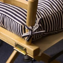 Sitzkissen mit Riemen quadratisch blau
