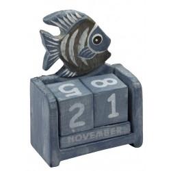 Kalender vis blauw