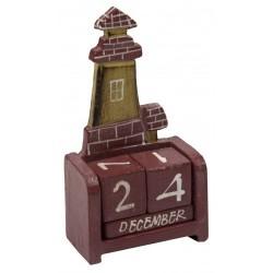 Kalender Leuchtturm rot