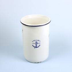 Pot émaillée look - Sailor (dernières pièces)