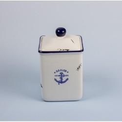 Pot emaille look - Sailor  (laatste stuks)