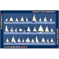 Tischset Segelboote