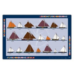 Placemat flat hull ships
