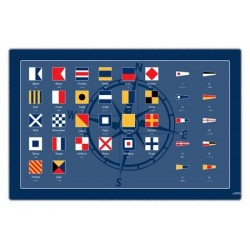 Tischset Signalflaggen