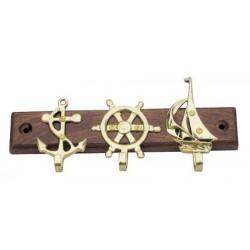 Schlüsselregal mit Anker/Steuerrad/Boot