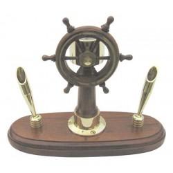 Stifthalter Steuerrad Kompass Messing