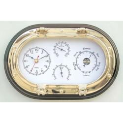 Porthole with clock & Weather station