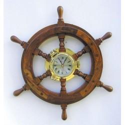 Uhr im Bullauge auf Steuerrad - 450 mm