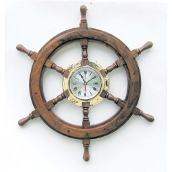 Clock in porthole on steering wheel - 600 mm