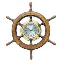 Uhr im Bullauge auf Steuerrad - 600 mm