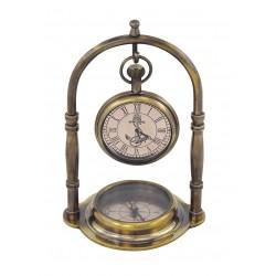 Kompass & Uhr Messing antik