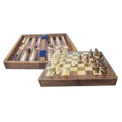 Schach und Backgammon in Box