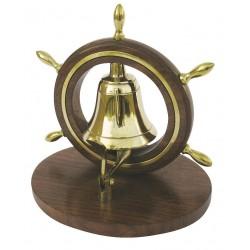 Hotel Bell in steering wheel wood/brass
