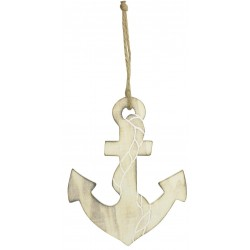 Hanging Decor wooden anchor on rope (last pieces)