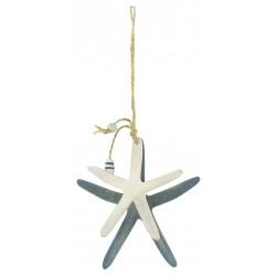 Hanging Décor Pastel Art zeestre aan koord 10 cm