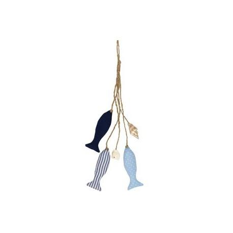 Hanging Décor stoffen vissen aan touw
