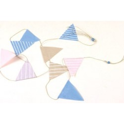 Hanging Décor vlaggetjes aan touw 180 cm