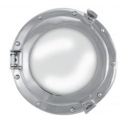 Patrijspoort-Spiegel, vernikkeld aluminium, Ø: 28 / 17,5cm