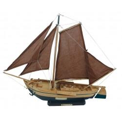 Segelboot Botter 55 x 45 cm