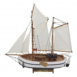 Zeilboot Tjalk 39 x 42 cm