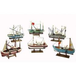 Fischerboot 16 cm (6 verschiedene)