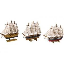 Tallship klipper - 16 cm (3 assorti)