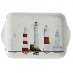 Tablett Leuchttürme British Isles 20 cm