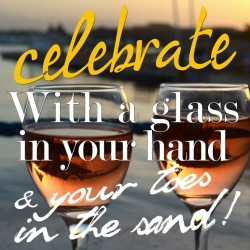 Ansichtkaart Celebrate/Glass in your hand 15 x 15 cm