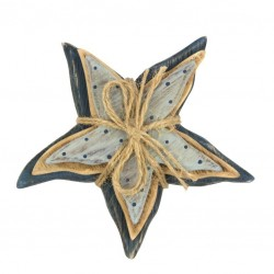 Starfish wood with rope 15 cm