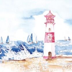 Postcard Coastal Range Lighthouse 14 x 14 cm