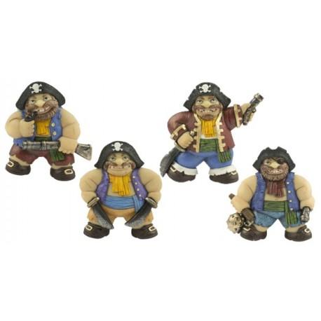 Magneet piraat 7 cm (4 assorti)