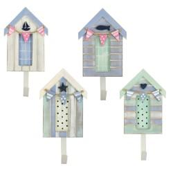Kapstokhaak Strandhuis pastelkleuren (4 assorti)