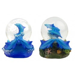 Snowglobe with dolphins (2 assorted)
