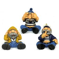 Money box seamen hear no evil, see no evil, speak no evil - 13 cm