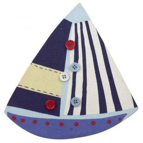 Memobord zeilboot met magnetische buttons 20 cm