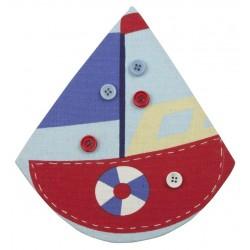 Memobord zeilboot met magnetische buttons