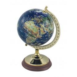 Globe - dark blue - brass - S / M / L