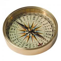 Kompass in Leder Halter