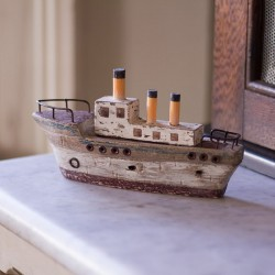 Stoomboot decoratief 19 cm