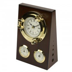 Desk set clock & thermometer & hygrometer
