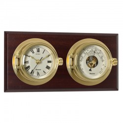 Ensemble horloge et baromètre Riviera