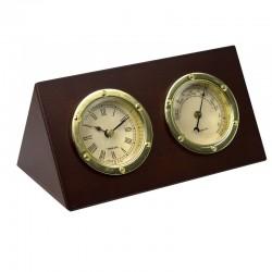 Ensemble horloge de bureau et baromètre